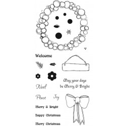 Bauble Wreath Clear Stamp Set