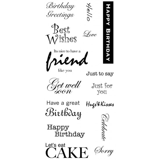 Birthday Greetings Clear Stamp Set