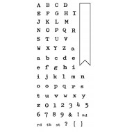 Typewriter Alphabet Clear Stamp Set