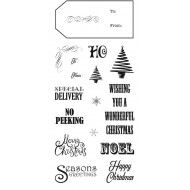 Christmas Tags Clear Stamp Set
