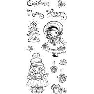 Poppi Pokkadott Christmas Clear Stamp Set