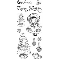 Poppi Pokkadott Christmas Clear Stamp Set - PRE-ORDER