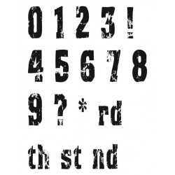 Distress Numbers Clear Stamp Set