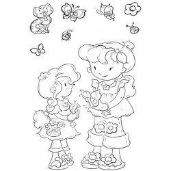 Best Friends Girls Clear Stamp Set