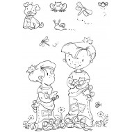 Best Friends Boys Clear Stamp Set