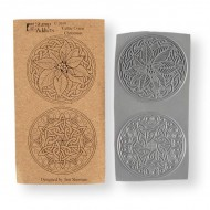 Celtic Coins Christmas Cling Rubber Stamps