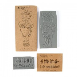 Fabulous Lady Set of Rubber Stamps