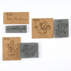 Merry Christmouse set of Cling Rubber Stamps
