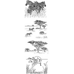 JudiKins African Safari Cling Rubber Stamp Set