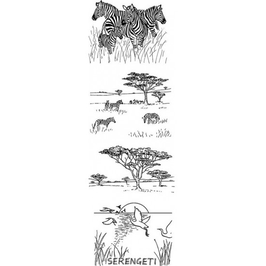 African Safari by JudiKins Cling Rubber Stamp Set