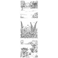 English Country Garden Cling Rubber Stamp Set
