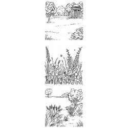 JudiKins English Country Garden Cling Rubber Stamp Set
