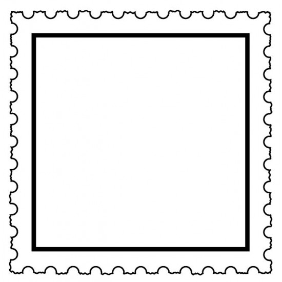 Square Postage Frame Cling Rubber Stamp