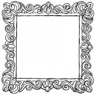 JudiKins Flourished Frame Cling Rubber Stamp Set