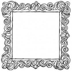 JudiKins Flourished Frame Cling Rubber Stamp Set
