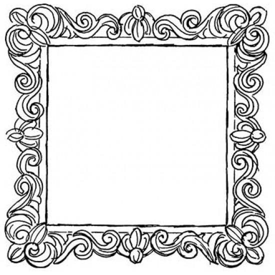Flourished Frame Cling Rubber Stamp Set