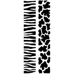 JudiKins African Animal Prints Cling Rubber Stamp Set