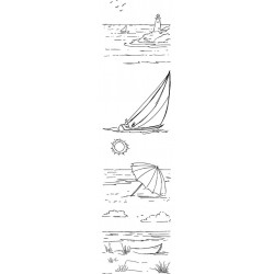 Beaches by JudiKins Cling Rubber Stamp Set