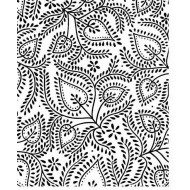 Stitched Leaves Cling Rubber Stamp