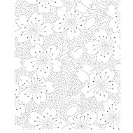 Flower Dots Cling Rubber Stamp