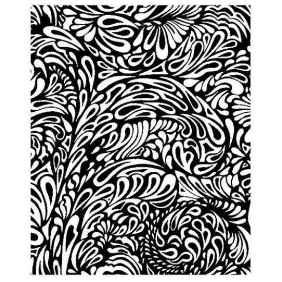 Paisley Background Cling Rubber Stamp