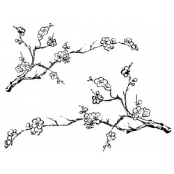 JudiKins Plum Branches Cling Rubber Stamp Set