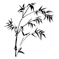 Sprig Bamboo Cling Rubber Stamp