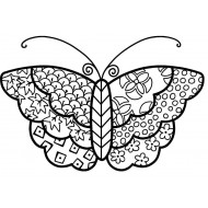 Cloth Butterfly Cling Rubber Stamp
