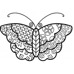 JudiKins Cloth Butterfly Cling Rubber Stamp