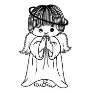 JudiKins Peeking & Praying Angels Cling Rubber Stamps