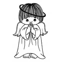 Peeking Angel Cling Rubber Stamp by JudiKins