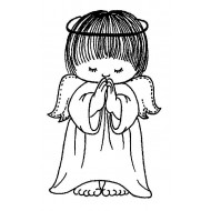 JudiKins Praying Angel Cling Rubber Stamp