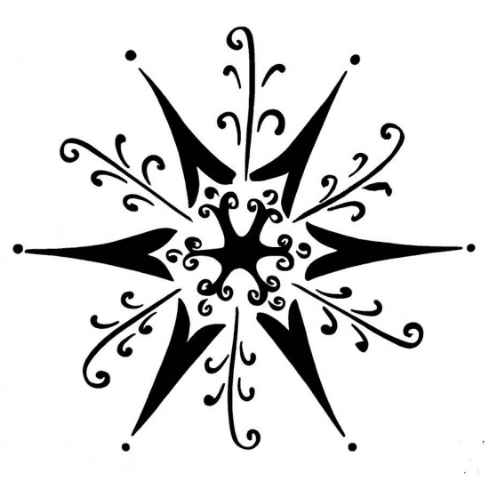 Alpine Snowflake Small by JudiKins Cling Rubber Stamp