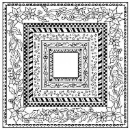 Christmas Frames Cling Rubber Stamp