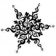 JudiKins Old World Snowflake Small Cling Rubber Stamp