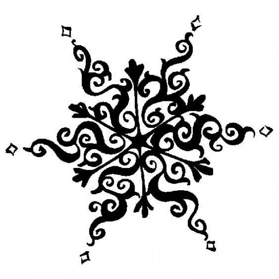 Old World Snowflake Large Cling Rubber Stamp
