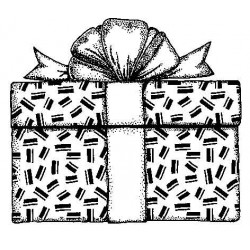 Gift Box Cling Rubber Stamp