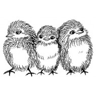 JudiKins Fluffy Chicks Cling Rubber Stamp