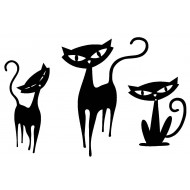 Feline Family Cling Rubber Stamp Set