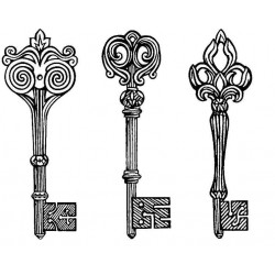 Keys to the Castle Cling Rubber Stamp Set