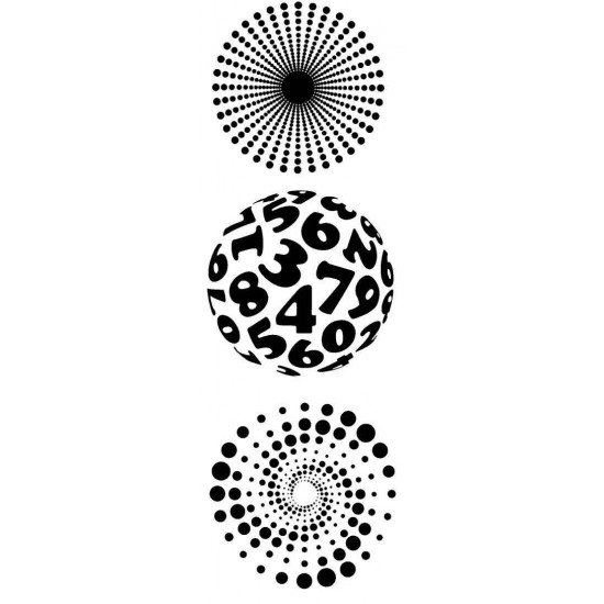 Round Illusions by JudiKins Cling Rubber Stamp Set