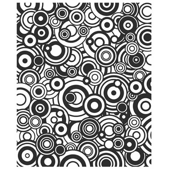 Circles in Circles Cling Rubber Stamp