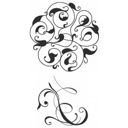 Arabesque Flourishes Cling Rubber Stamp