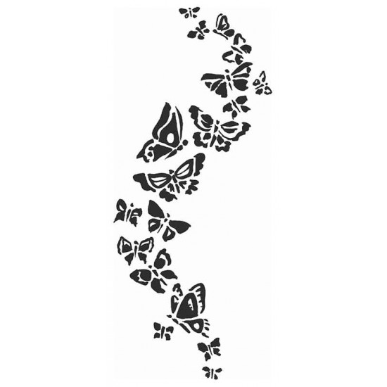 Butterfly Stream Cling Rubber Stamp