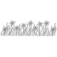 Meadow Flowers Cling Rubber Stamp by JudiKins
