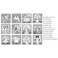 12 Days of Christmas 2 inch squares Rubber Stamp Set