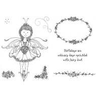 Tiara Fairy Rubber Stamp Set