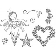 Thoughtful Fairy Rubber Stamp Set