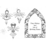 3 Fairies Rubber Stamp Set