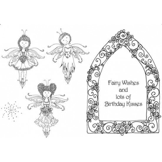 3 Fairies Rubber Stamp Set